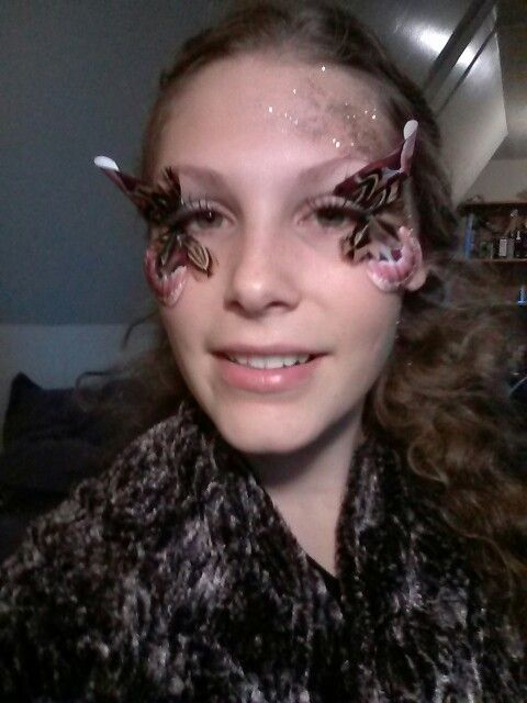 Another one of my Halloween make-ups  Inspired by Martha Stewart