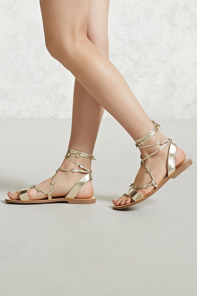 Star Accent Ankle-Wrap Sandals TNgYG7n