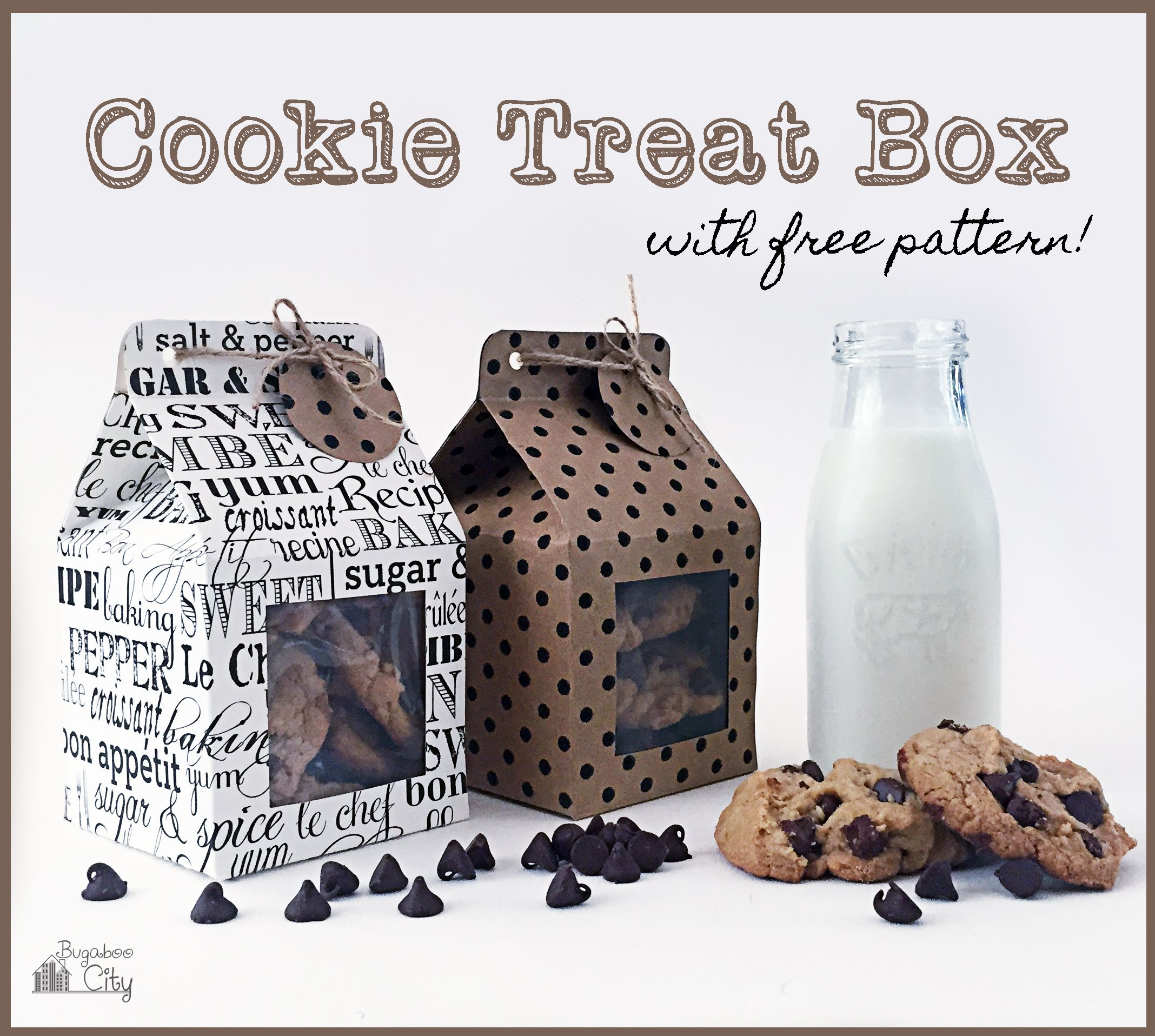 Cookie Treat Boxes Cookie packaging, Cookie box, Diy