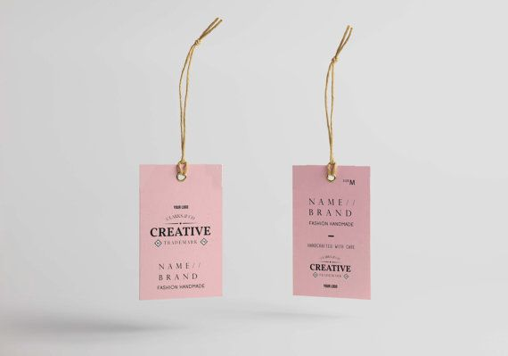 Hang tag custom clothing label, Printable Custom labels for clothes