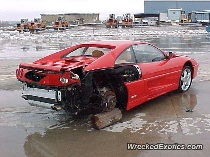 Ferrari F355 Gtb Crashed In Dallas Texas Ferrari Crash Dallas