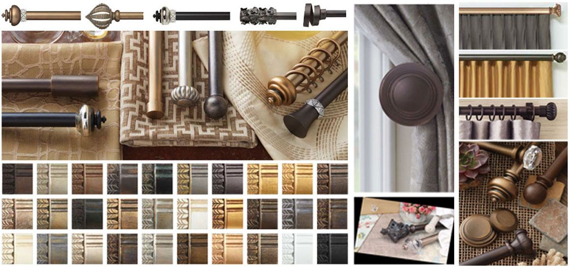 custom curtain rods drapery hardware finials from 8 best brands can be found at windows dressed up showroom in denver custom wood iron or metal finishes