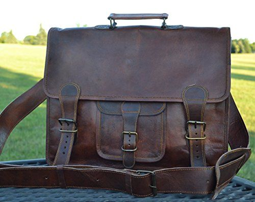 f0b61c7f7fbd Komals Passion Leather 16 Inch Mens Retro Leather Laptop Messenger Satchel  Briefcase Bag -- You can find out more details at the link of the image.