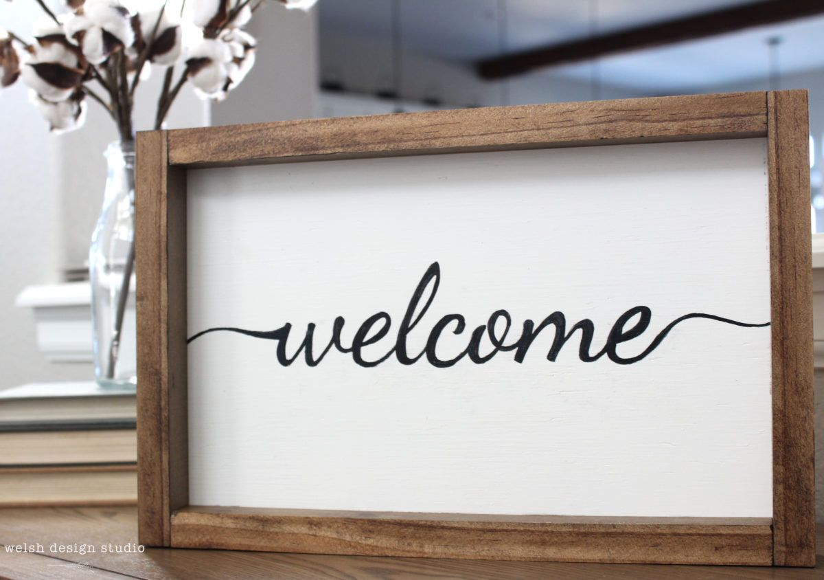 Say Hello to our Welcome Sign Product | Woods, Blogging and ...