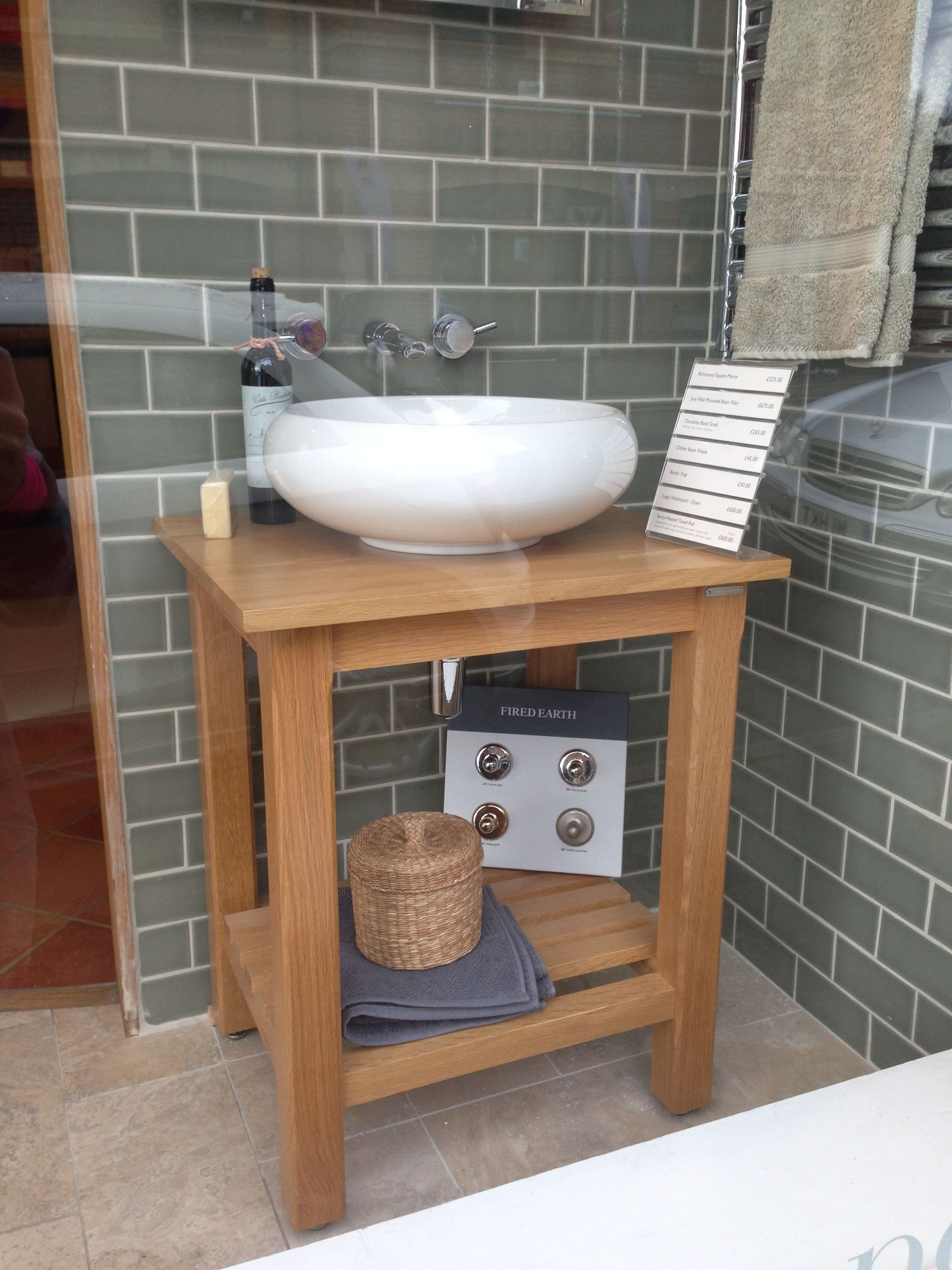 Basin on a stand