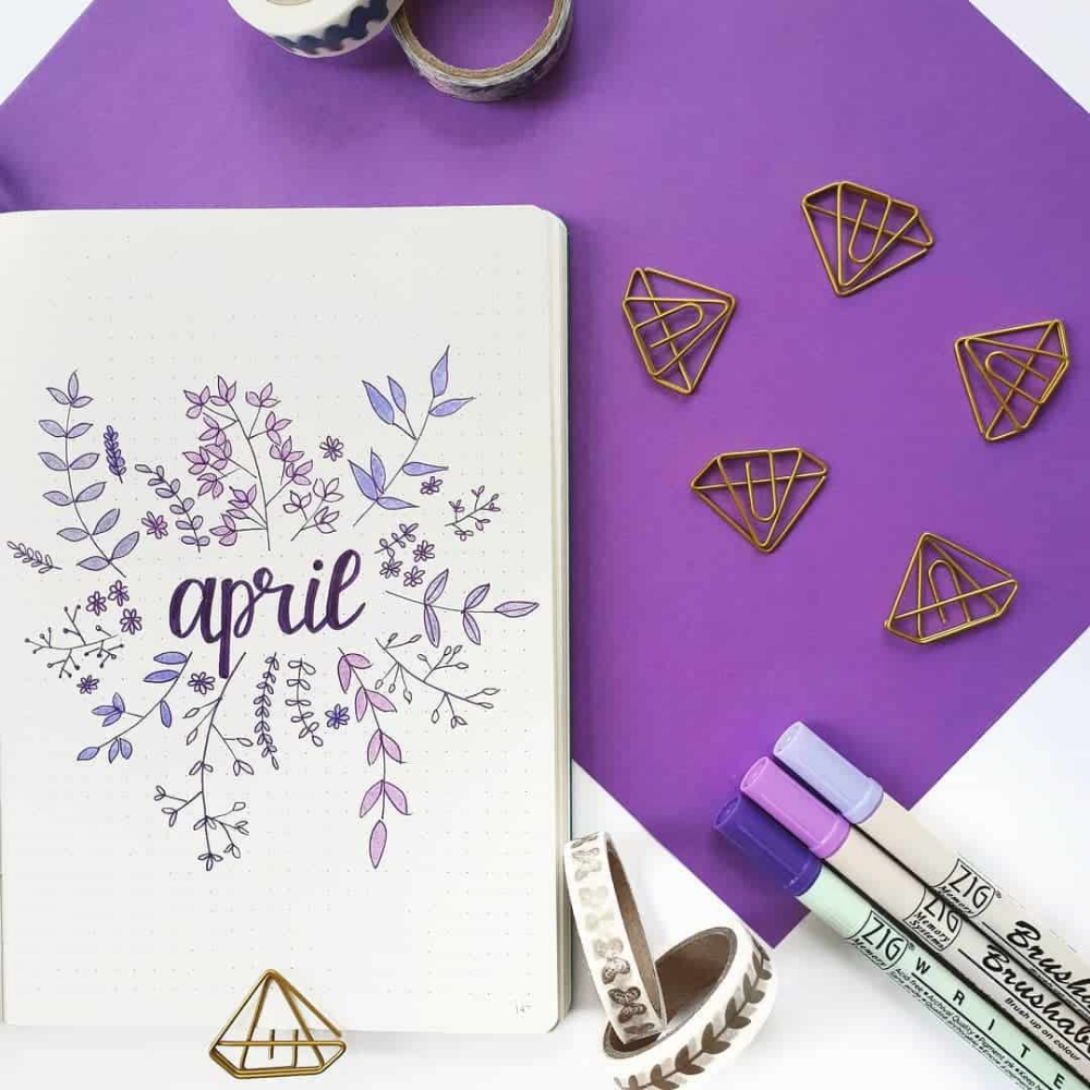 25 Adorable April Spreads for your Bullet Journal! | My Inner Creative