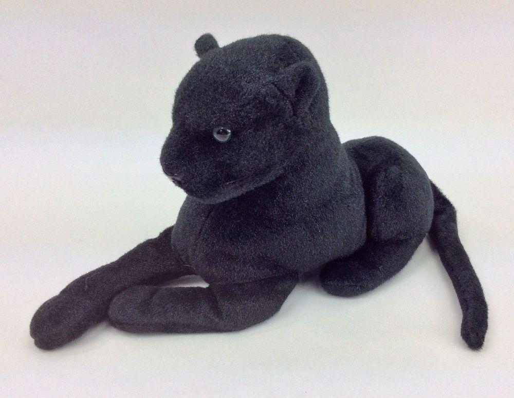 Black Jaguar Tiger Toys Laying Cat Plush Stuffed Animal 12 Cute