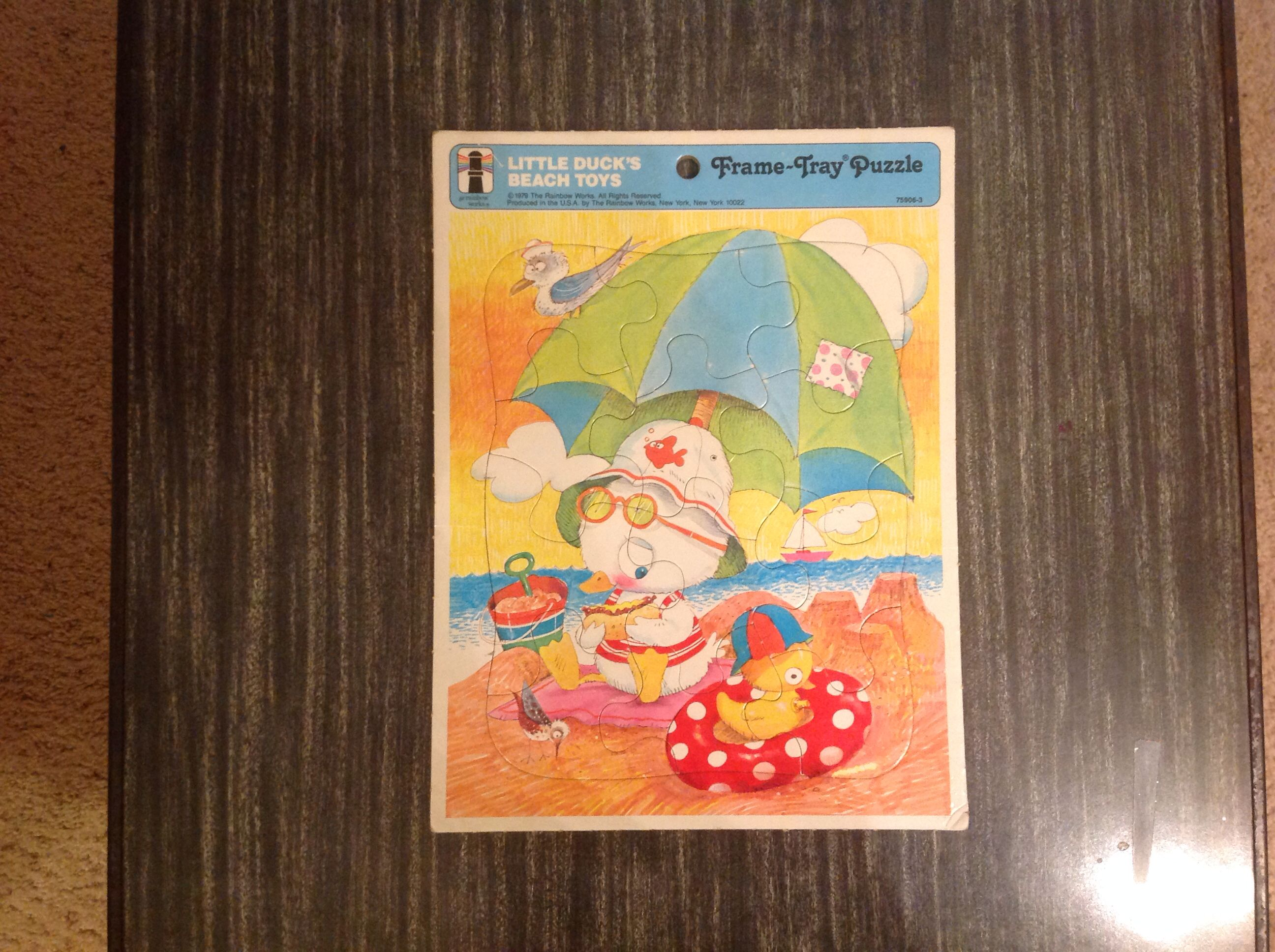 Vintage Rainbow Works puzzle, circa 1979.