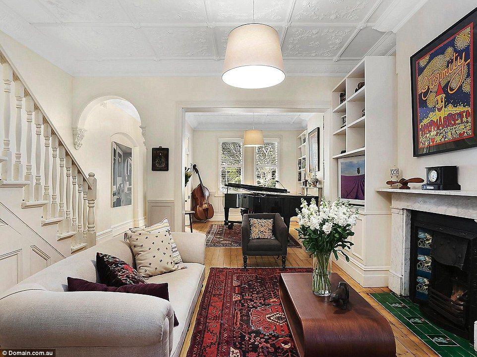 Victorian Terrace Interior Image By Tihana Cerovac On Red Sofa