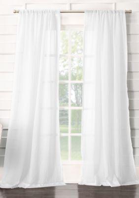 No 918 Leland Semi Sheer Rod Pocket Curtain Panel Rod Pocket