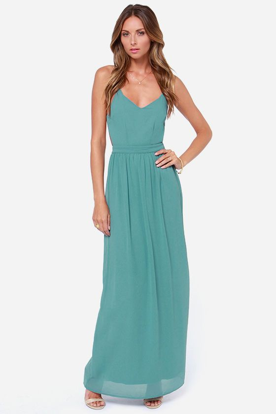 Exclusive Under the Arbor Backless Sage Green Maxi Dress   Sage ...
