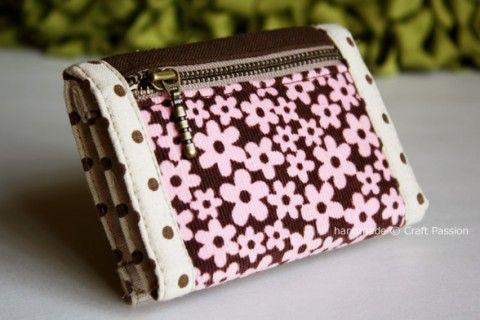 da17437ce Passo a passo e moldes de carteiras de tecido | Portfel | Carteira ...