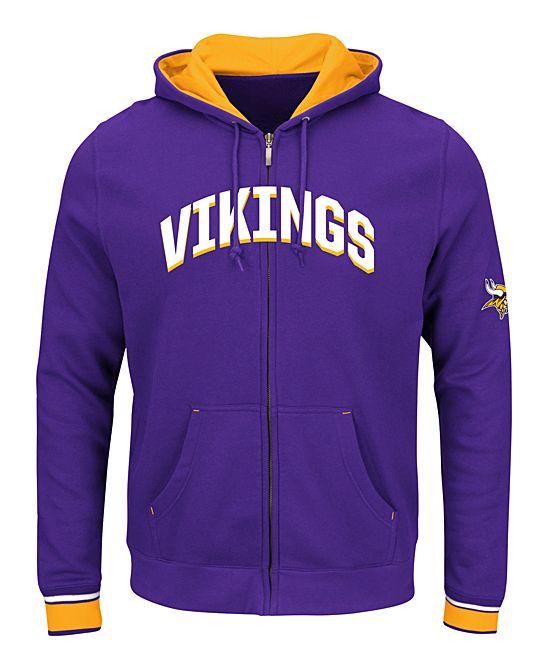 promo code 283f9 d22de Minnesota Vikings Zip-Up Hoodie - Men's Big & Tall ...