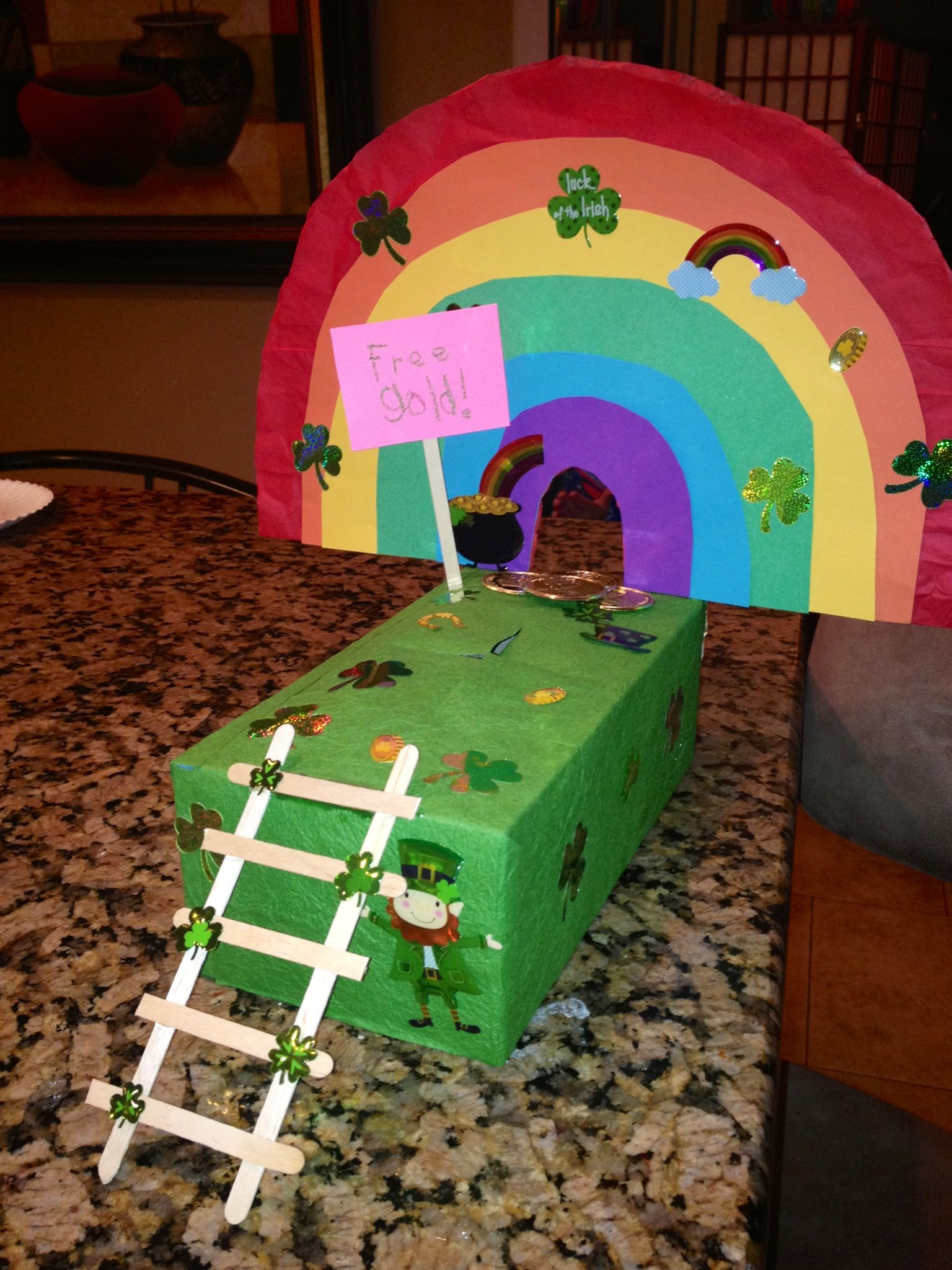 Leprechaun Trap No Escaping The Trap Door This Time Leprechaun Trap March Crafts Toddler Crafts