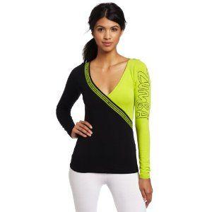Zumba Fitness Women's Escape Long Sleeve Deep V Shirt