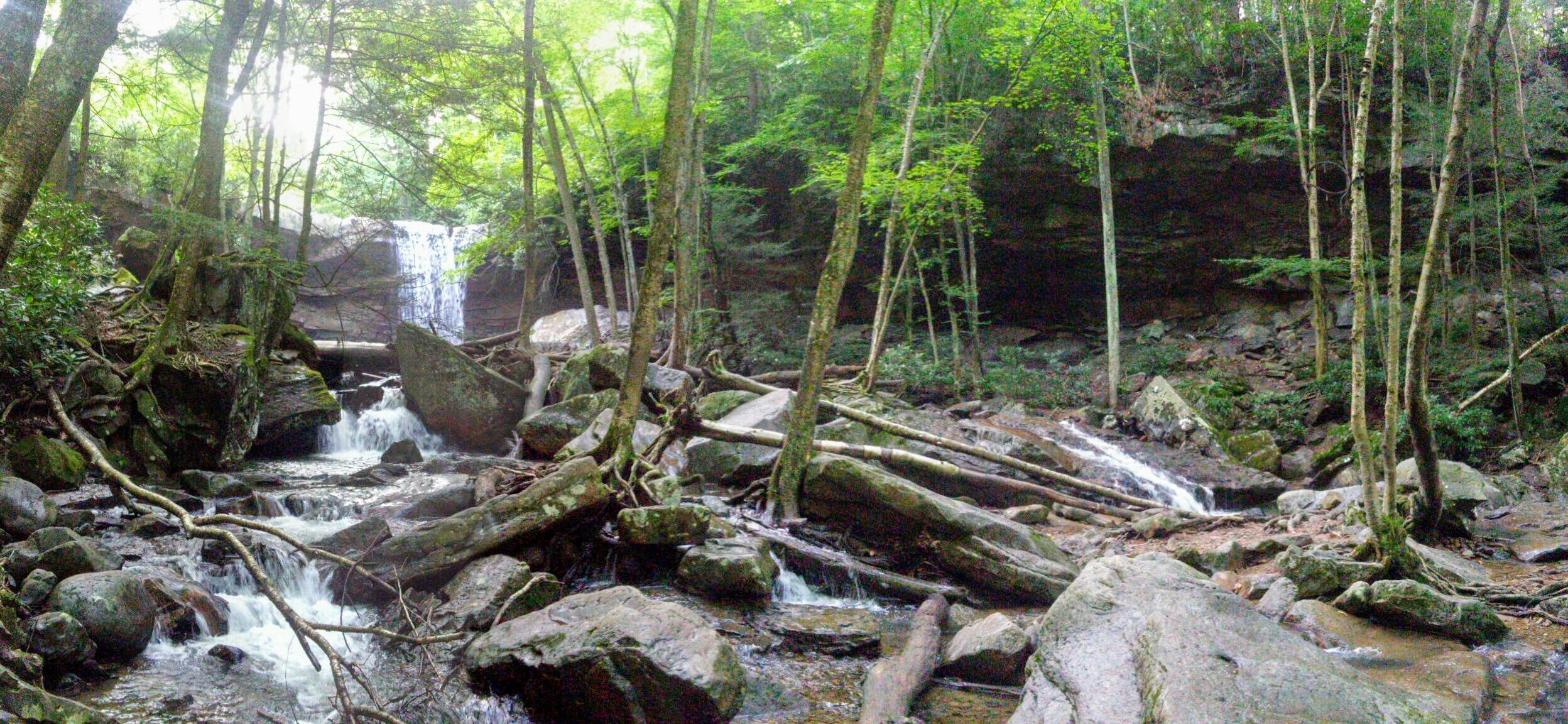 Cucumber falls ohiopyle vacation outdoor waterfall