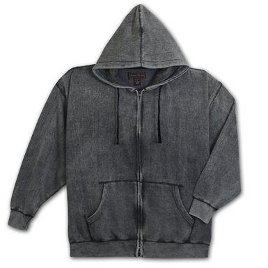 Enzyme Washed Hooded Fleece Jacket In 2019 Fashion
