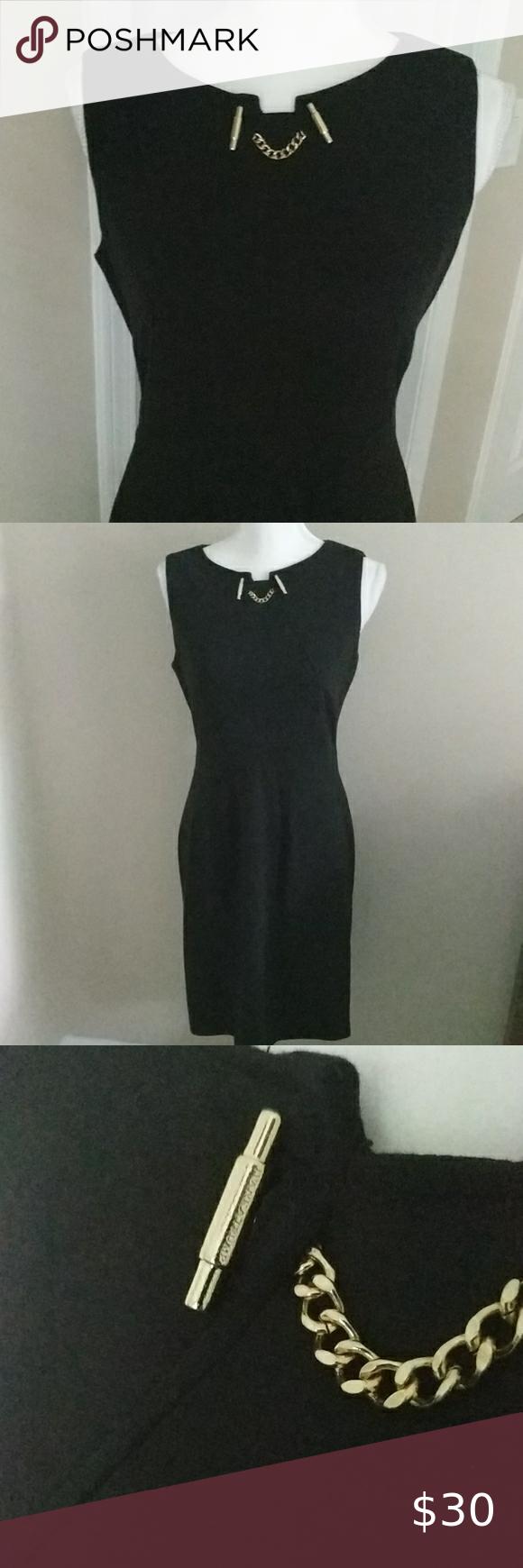 Ivanka Trump Black Dress With Gold Embellishment Black Dress Perfect Little Black Dress Scoop Neck Dress [ 1740 x 580 Pixel ]