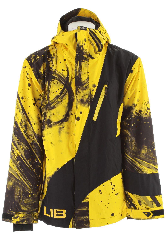 Lib Tech Recycler Snowboard Jacket Parillo Yellow Mens