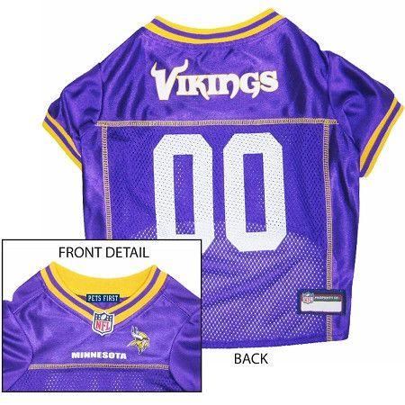 Minnesota VIKINGS NFL dog Jersey in color Purple  faad08295
