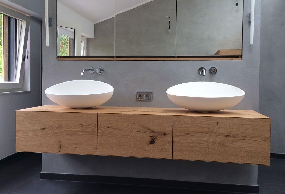 Waschtisch H Ngend Schreinerei Badezimmer Badmobel Badezimmermobel Badmobel Set Spiegelsc In 2020 Bathroom Shelving Unit Simple Bathroom Bathroom Remodel Designs
