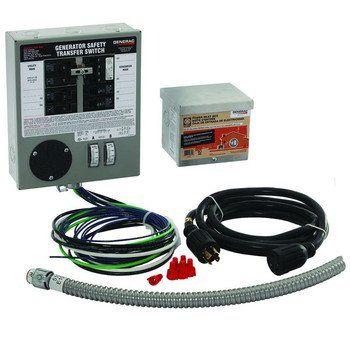 Generac 6408 30 Amp 6 10 Circuit Indoor Manual Transfer Switch Kit For Maximum 7 500 Watt Generators Transfer Switch Generator Transfer Switch Generation