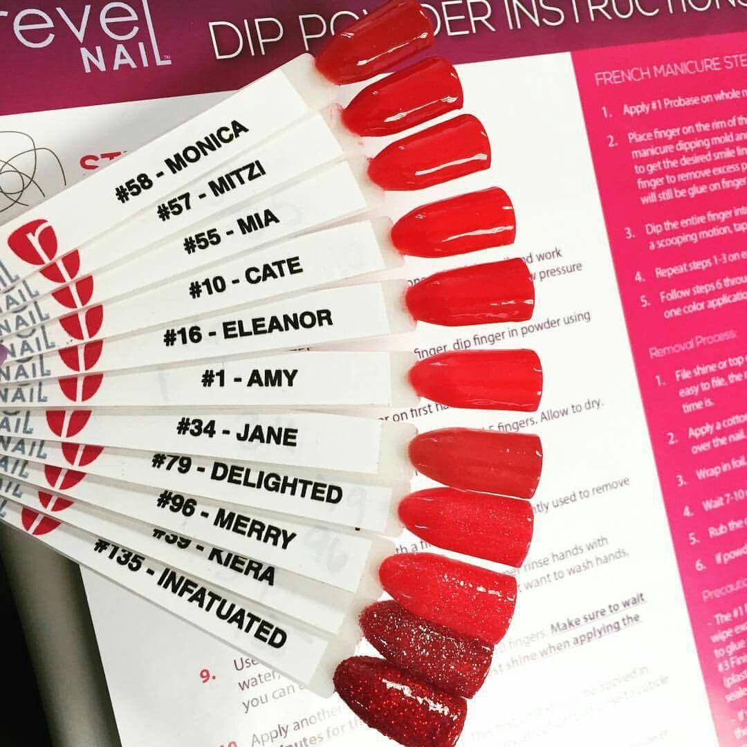 Revel Reds | Acrylic Dip Powder | Pinterest | Fingernägel und Rot