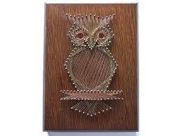Resultado de imagem para string art owl