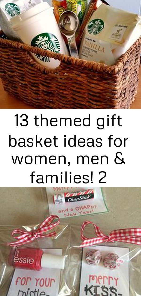 13 themed gift basket ideas for women, men & families! 2 These 13 themed gift ba…