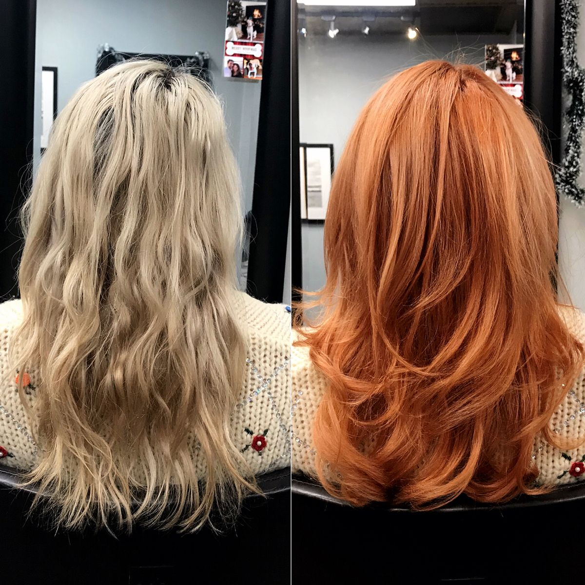 Before And After Blonde To Red Hair Inspiration Color Shades Of Red Hair Ginger Hair Color