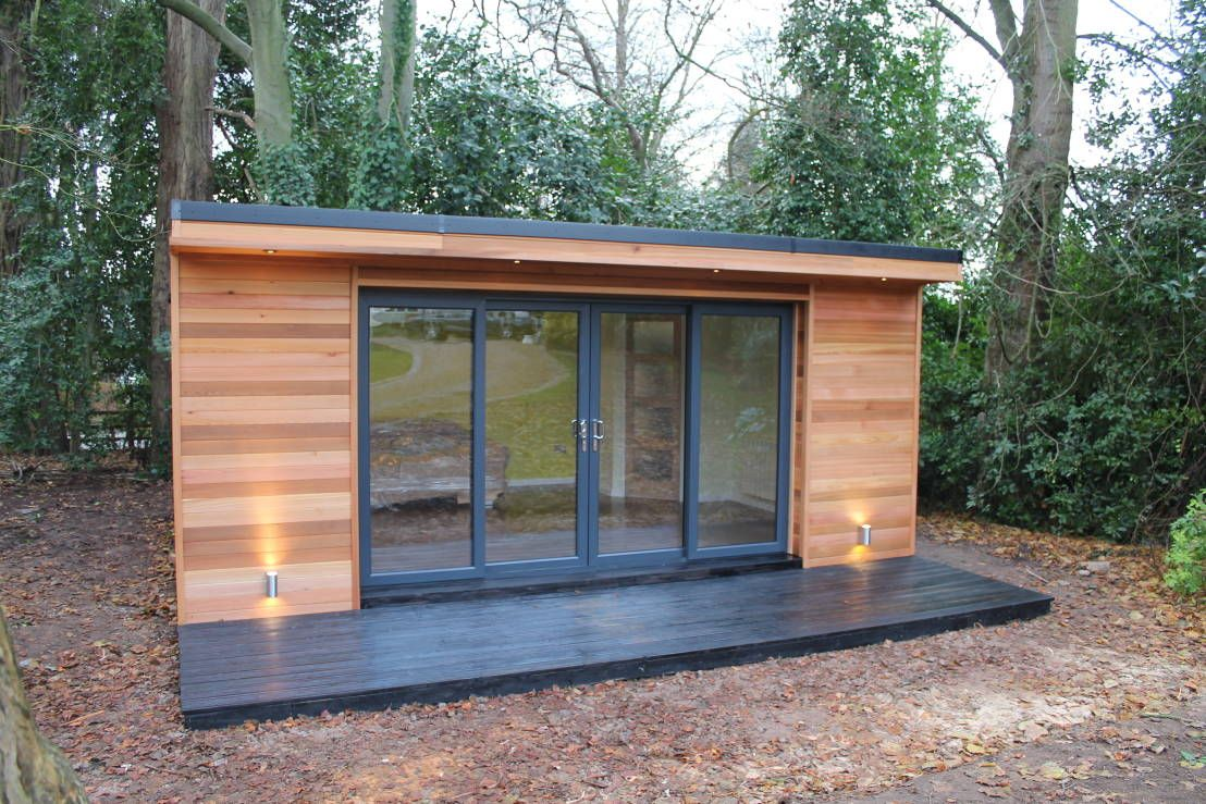 39 the crusoe classic 39 6m x 4m garden room home office for Outdoor studio rooms