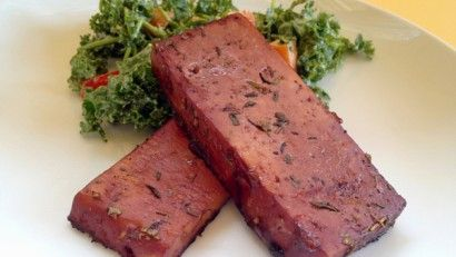 red wine tofu: Cadry's Kitchen has lots of great vegan recipes, daily meal plans etc.