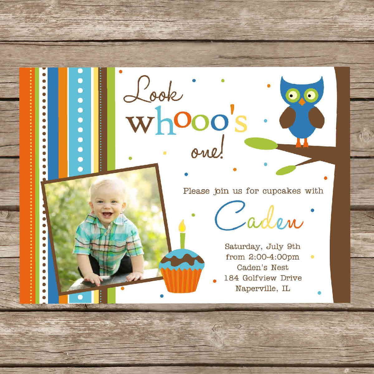 Printable Boy or Girl Birthday Hoot Owl Invitation Card Digital File ...