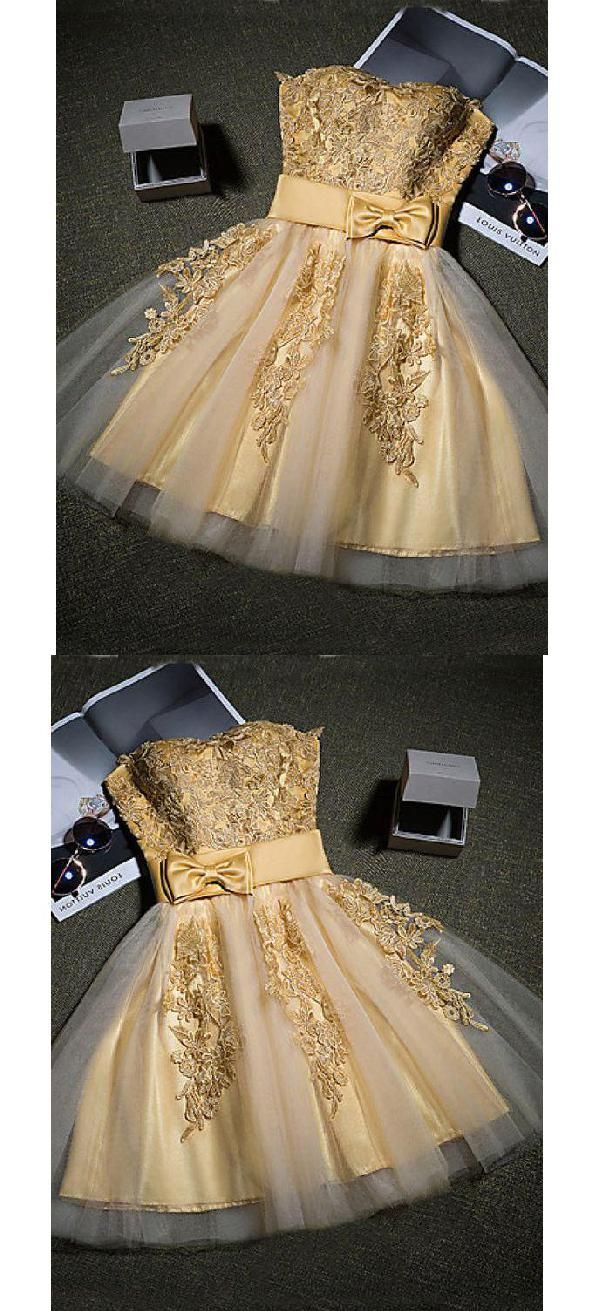 Discount nice short with appliques short homecoming dresses