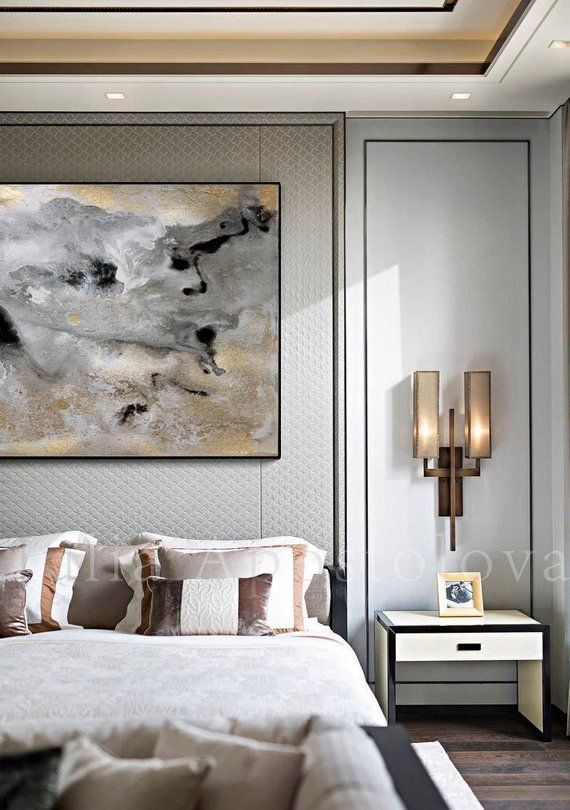 rectangle wall art gold leaf print large abstract canvas on best art gallery wall color id=69170