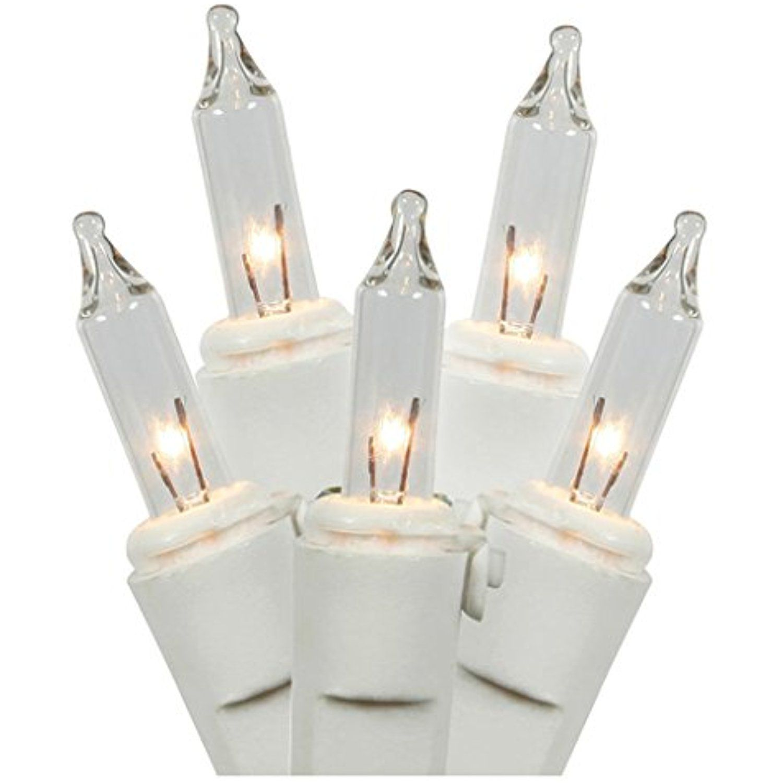 LiteSource 33532 - 35 Light 11.5\' White Wire Clear Miniature ...
