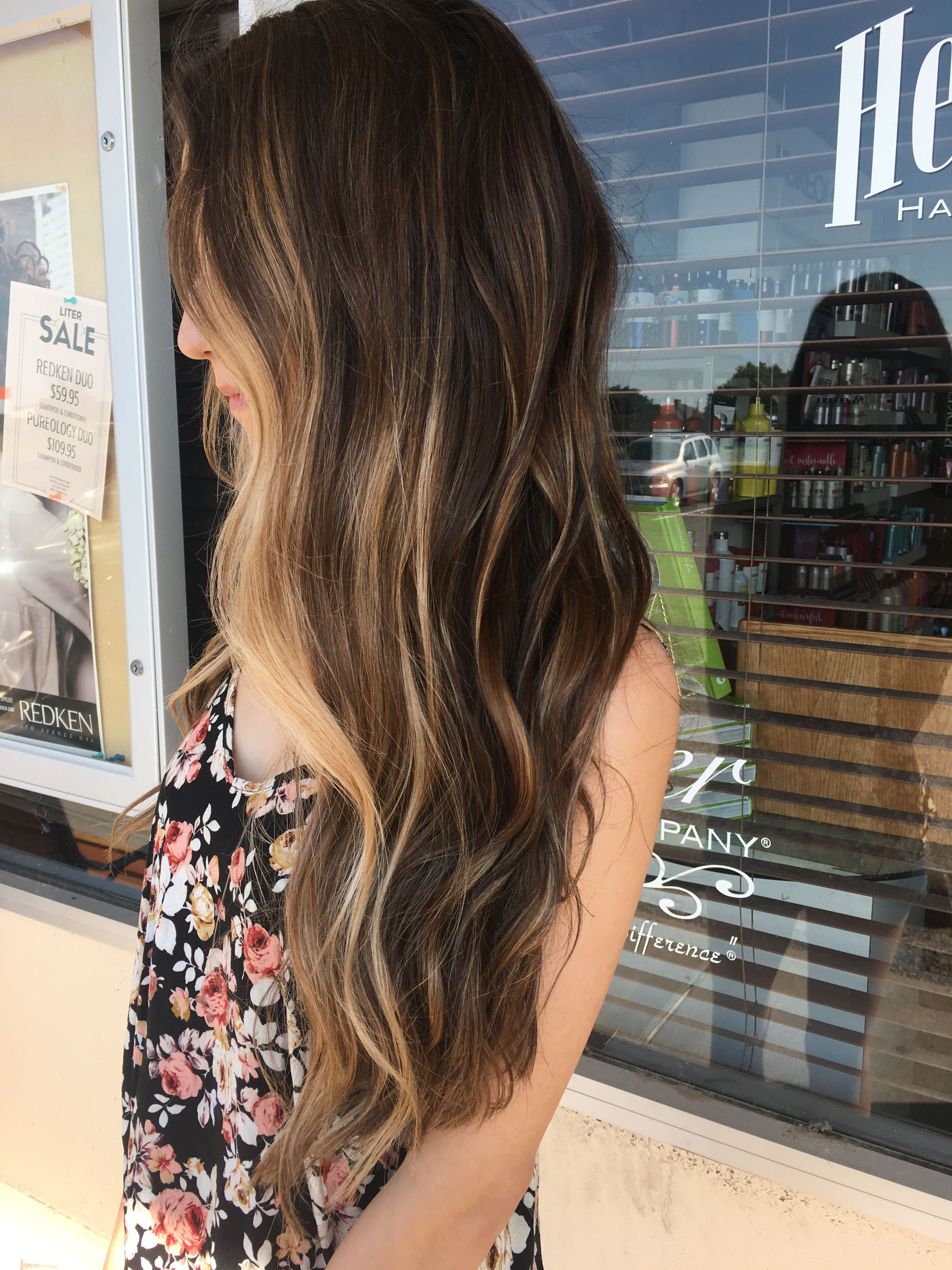 Gorgeous Long Wavy Brown Hair With Blonde Balayage Highlights Fall