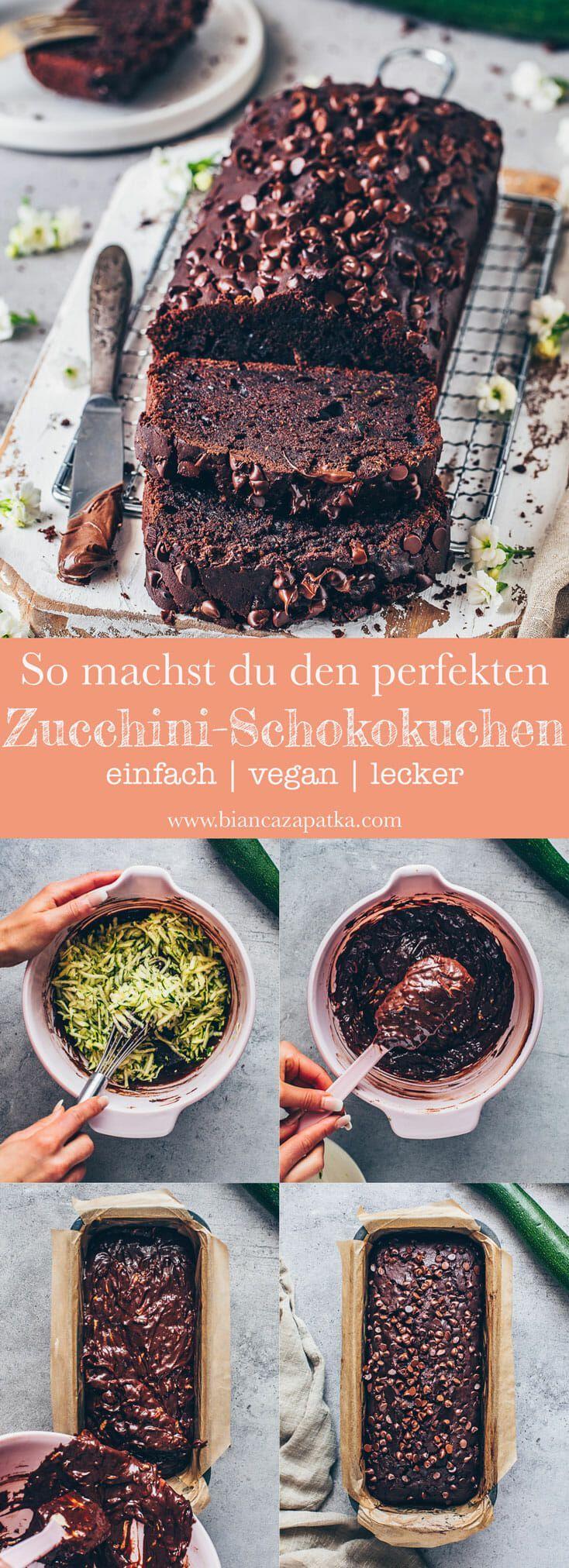 Zucchini-Schokoladenkuchen Rezept | Vegan & Einfach - Bianca Zapatka | Rezepte