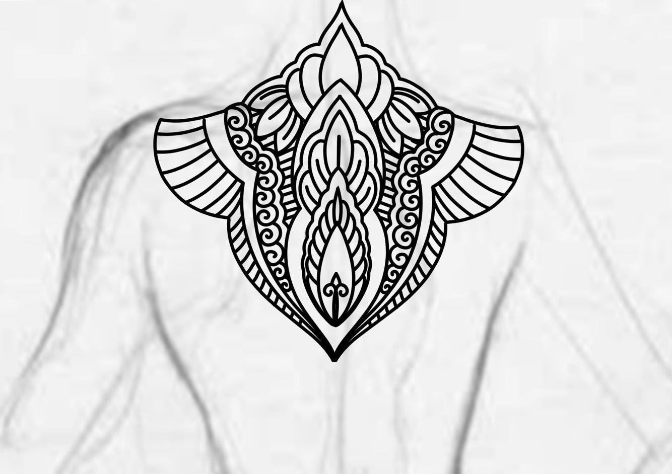 Blackwork back piece shoulder mandala ornamental bold