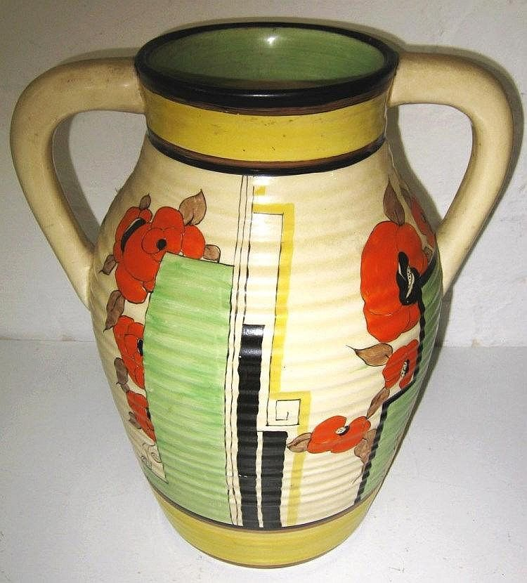Clarice Cliff Fantastique Bizarre Vase Of Two Handled Baluster