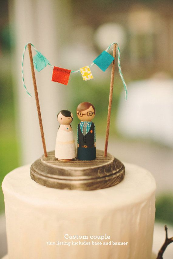 38+ Hipster wedding cake toppers ideas