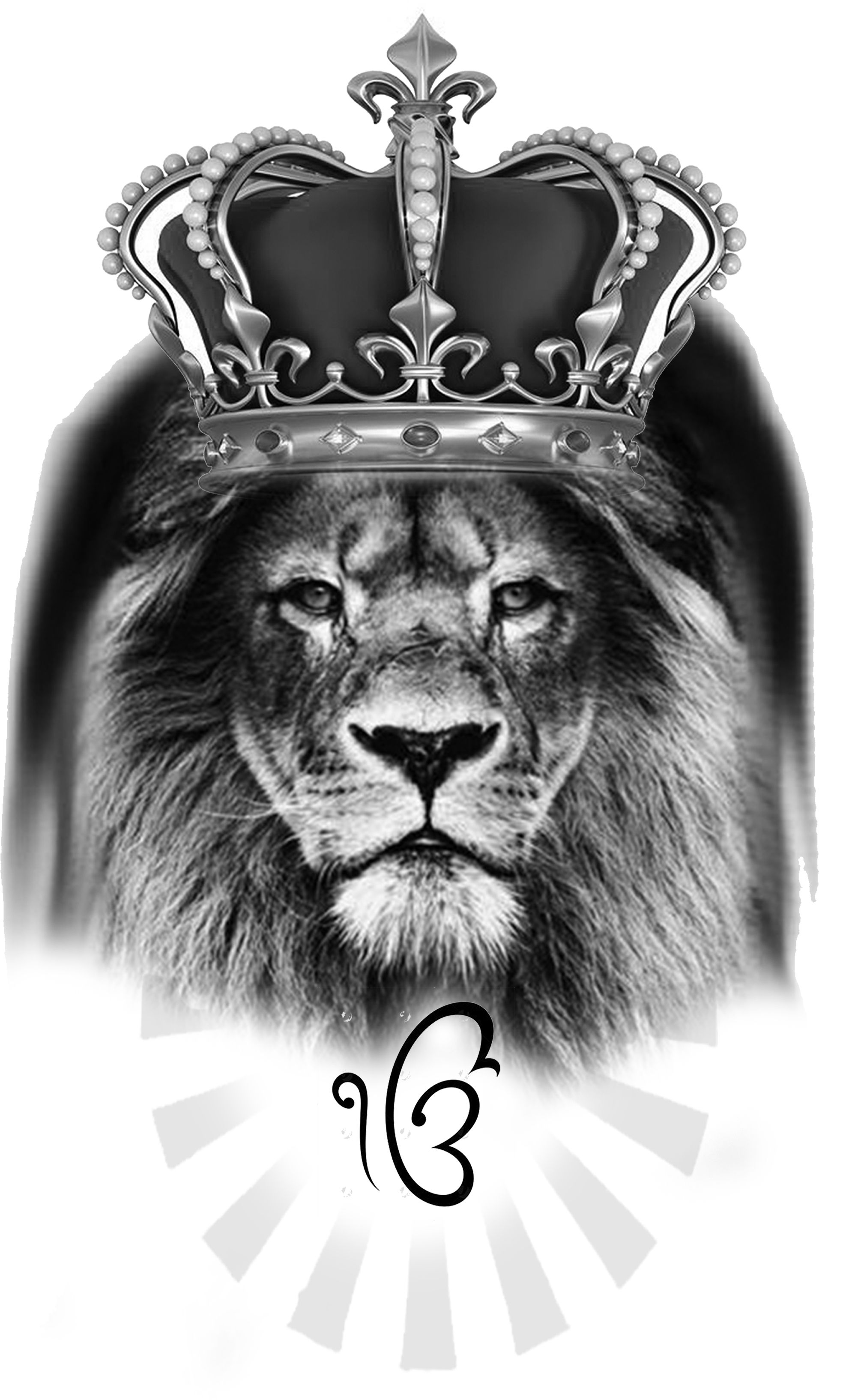 Lion With Crown Concept Done By Iamdpkvaishnav Liontattooconcept