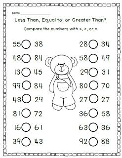 math worksheet : 1000 images about greater than or less than on pinterest  : Math Worksheets Comparing Numbers