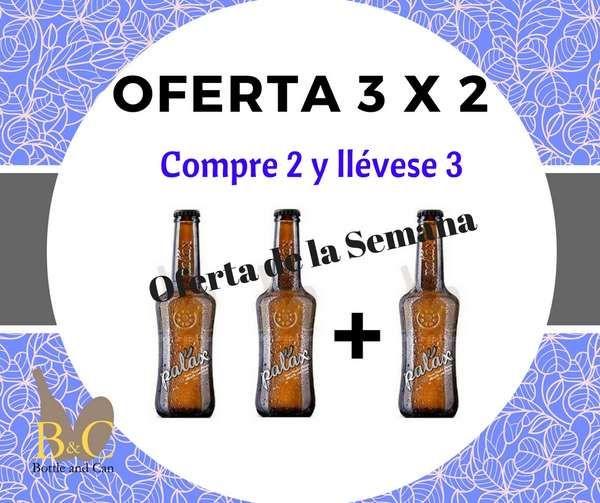 ¡¡ NUEVA OFERTA de la Semana !! La OFERTA comprende la compra de 2 Botellas de Cerveza Artesana PALAX de 33 cl. cada una + REGALO 1 Botella de Cerveza Artesana PALAX 33 cl. Válida hasta el Domingo 18/12/2016 o hasta Fin de Existencias. http://tienda.bottleandcan.es/es/ofertas-de-la-semana/694-3-cervezas-artesanas-palax-rubia-33-cl-llevese-3-botellas-y-pague-2.html #tiendaonline #gourmet #bottleandcan #granada #andalucía #españa #spain #beer #craftbeer #Palax +Cerveza Palax #oferta #regalos