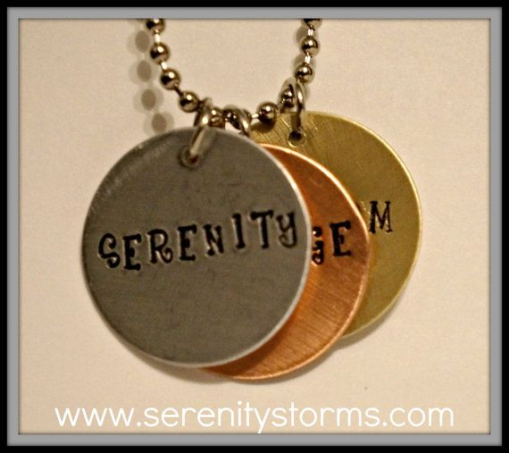 Serenity Courage Wisdom Silver Copper Brass by Serenitystorms, $16.95