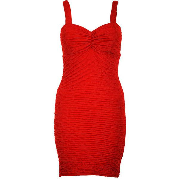 Kia Bodycon Dress in Red (17 AUD) ❤ liked on Polyvore featuring dresses, checked dress, body con dress, body conscious dress, red dress and red checked dress