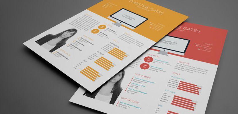 Multitud De Plantillas De InDesign Para Diseño Editorial Curriculum - Free indesign template resume