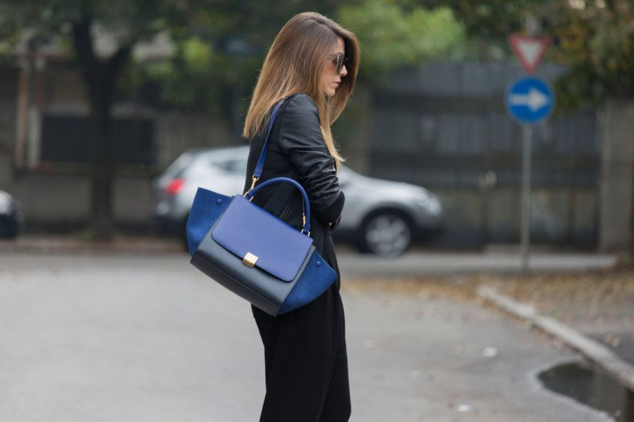 BLACK AND BLUE OUTFIT - fashion blogger
