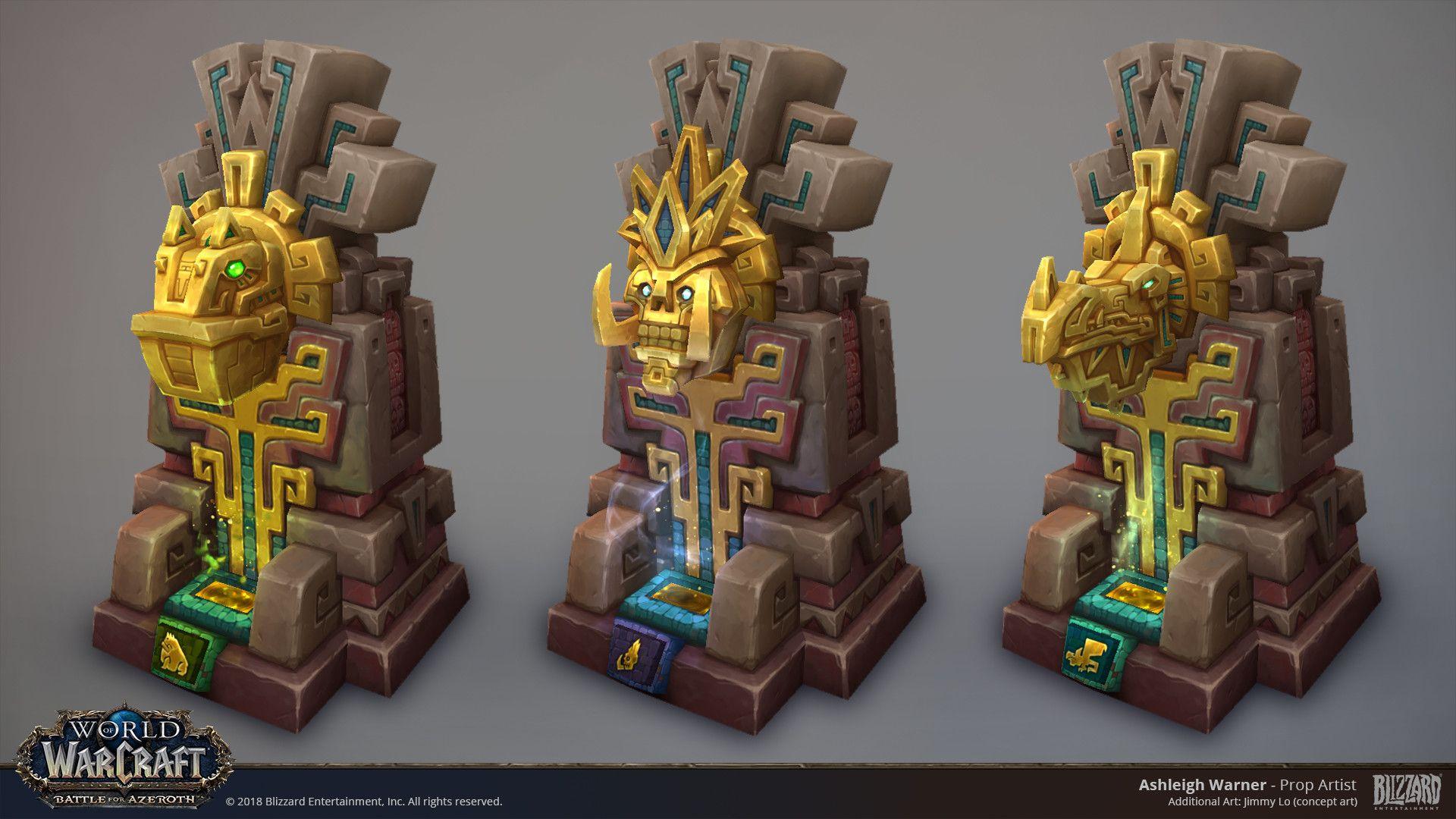 ArtStation Zandalari Loa Statues World of Warcraft