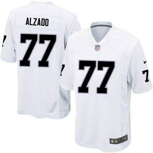Youth Nike Oakland Raiders #77 Lyle Alzado Elite White NFL Jersey ...